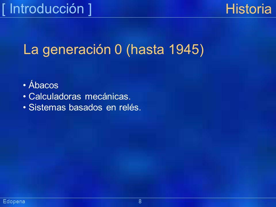 [ Introducción ] Historia La generación 0 (hasta 1945) Ábacos